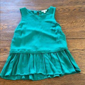 Francesca's emerald green peplum top